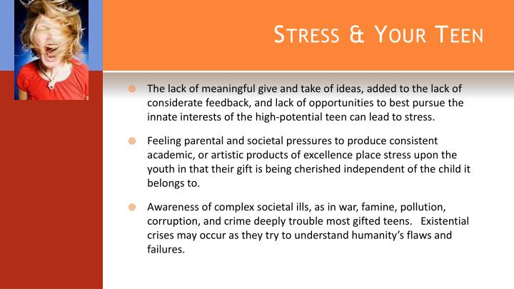 Stress & Your Teen