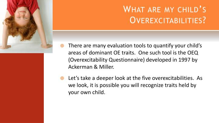 What are my child's Overexcitabilities?