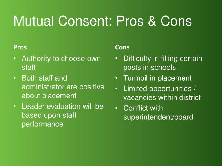 Mutual Consent: Pros & Cons