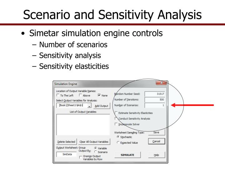 Scenario and Sensitivity Analysis