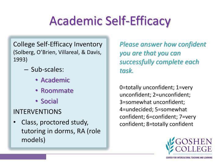 Academic Self-Efficacy