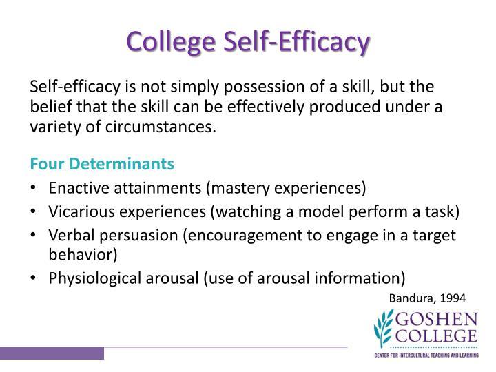 College Self-Efficacy