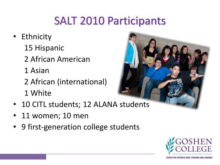 SALT 2010 Participants