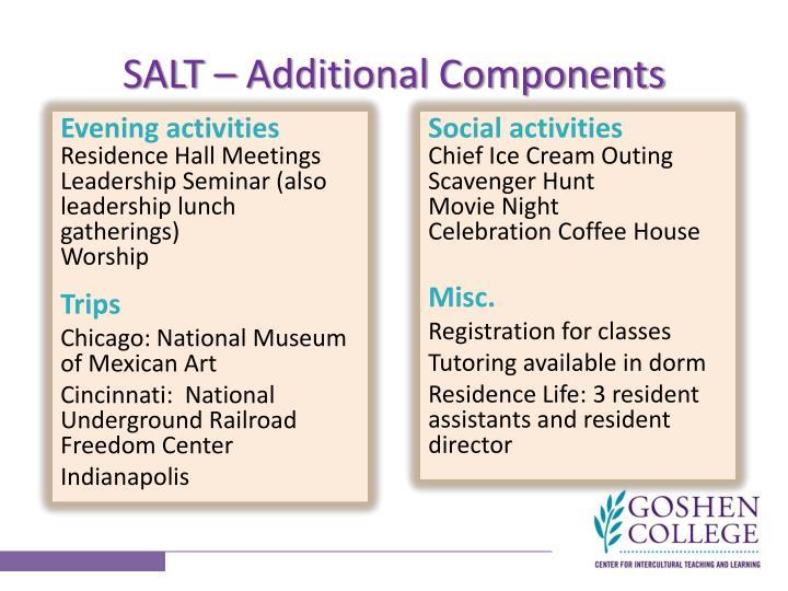 SALT – Additional Components