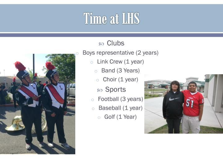 Time at LHS