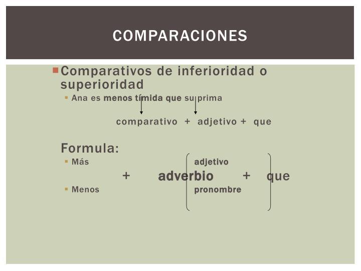 Comparaciones
