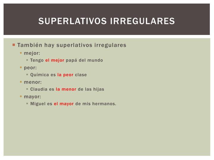 Superlativos irregulares