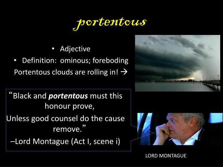portentous