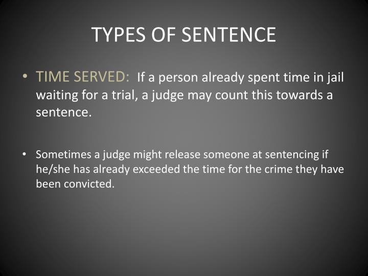 TYPES OF SENTENCE