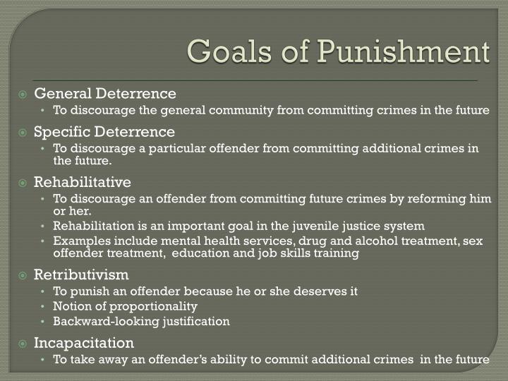 Goals of Punishment