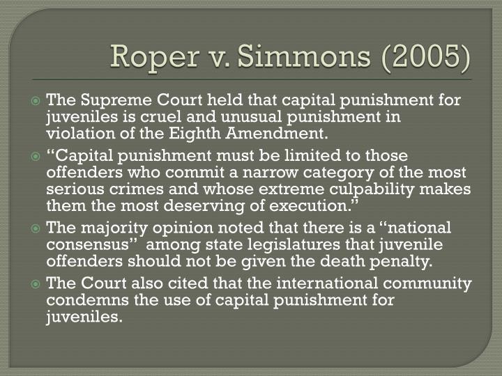 Roper v. Simmons (2005)