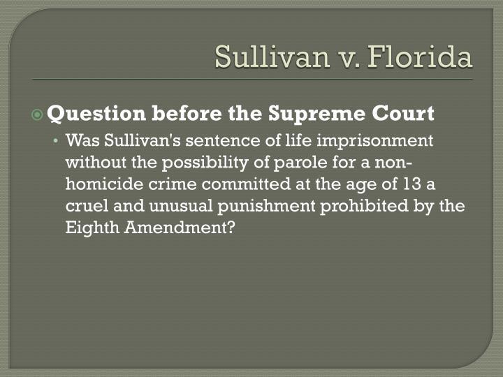 Sullivan v. Florida
