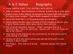 a e notes biography