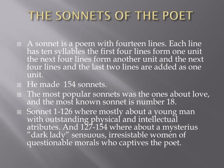 THE SONNETS OF THE POET