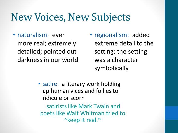 New Voices, New Subjects