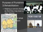 purpose of punishment 3 rehabilitation