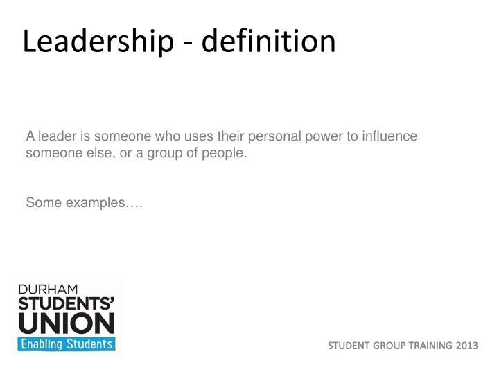 Leadership - definition