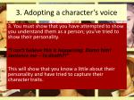 3 adopting a character s voice