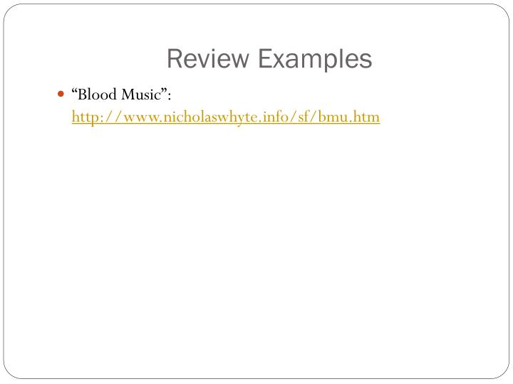 Review Examples