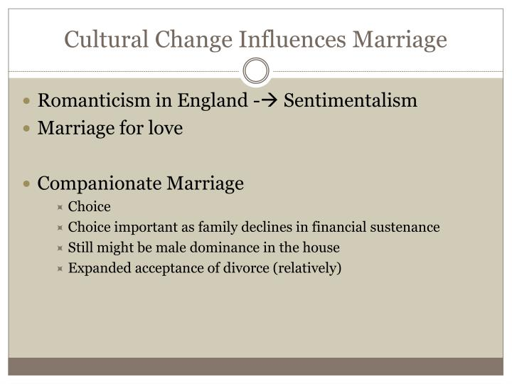 Cultural Change Influences Marriage