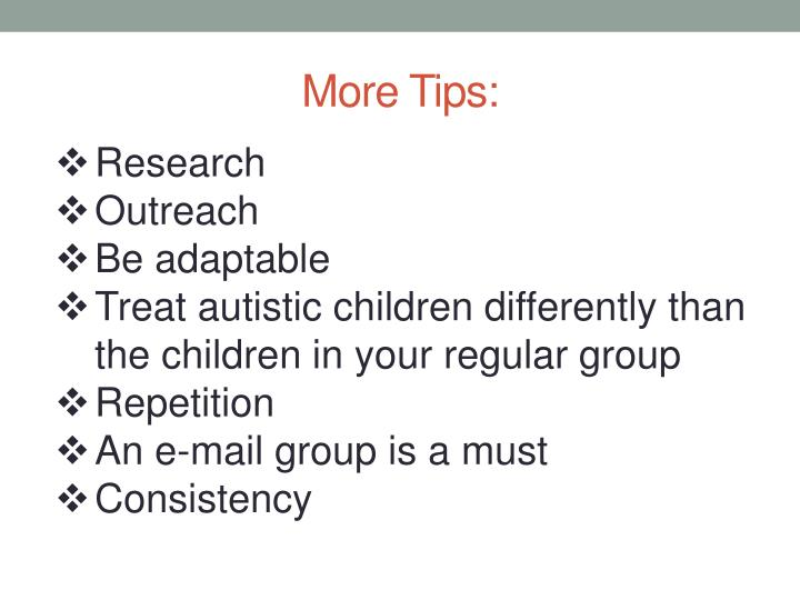 More Tips: