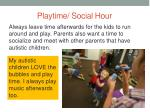 playtime social hour