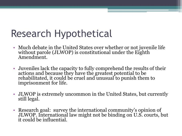 Research Hypothetical