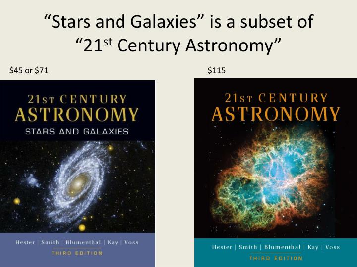 Stars and galaxies is a subset of 21 st century astronomy