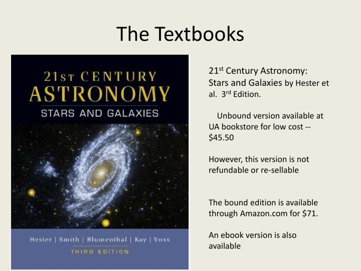 The textbooks