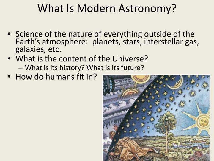 What Is Modern Astronomy?