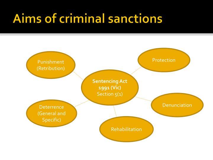 Aims of criminal sanctions