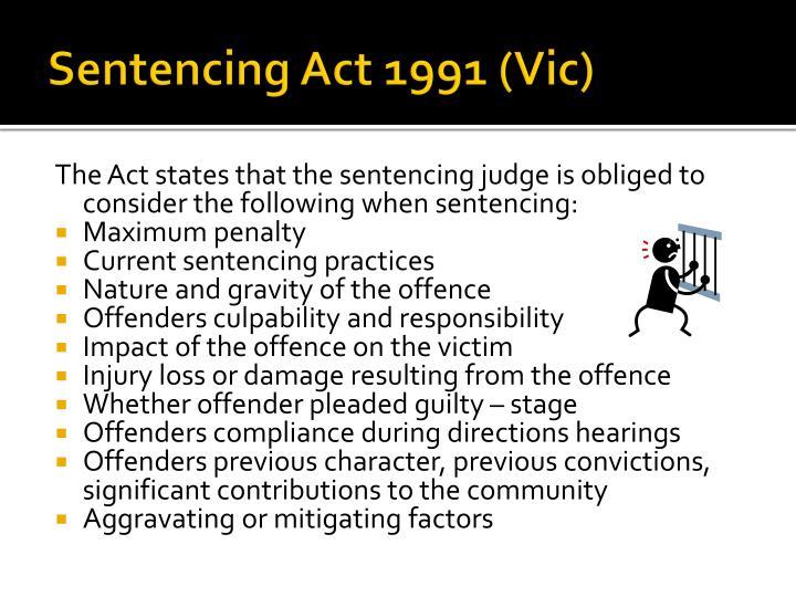 Sentencing Act 1991 (Vic)