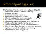 sentencing act 1991 vic
