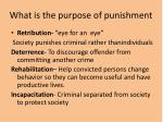 what is the purpose of punishment