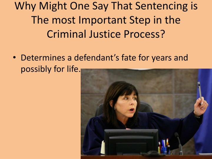 Why Might One Say That Sentencing is The most Important Step in the Criminal