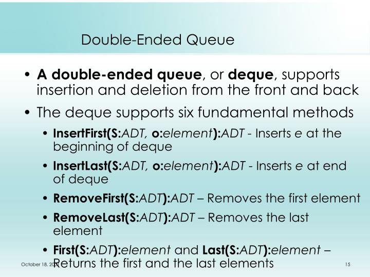 Double-Ended Queue