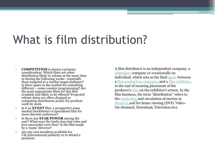 What is film distribution?