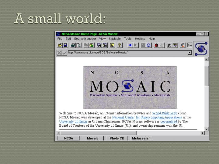 A small world: