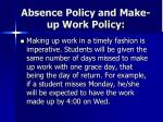 absence policy and make up work policy