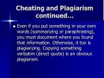 cheating and plagiarism continued1
