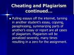 cheating and plagiarism continued2
