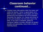classroom behavior continued1