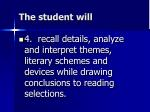 the student will3