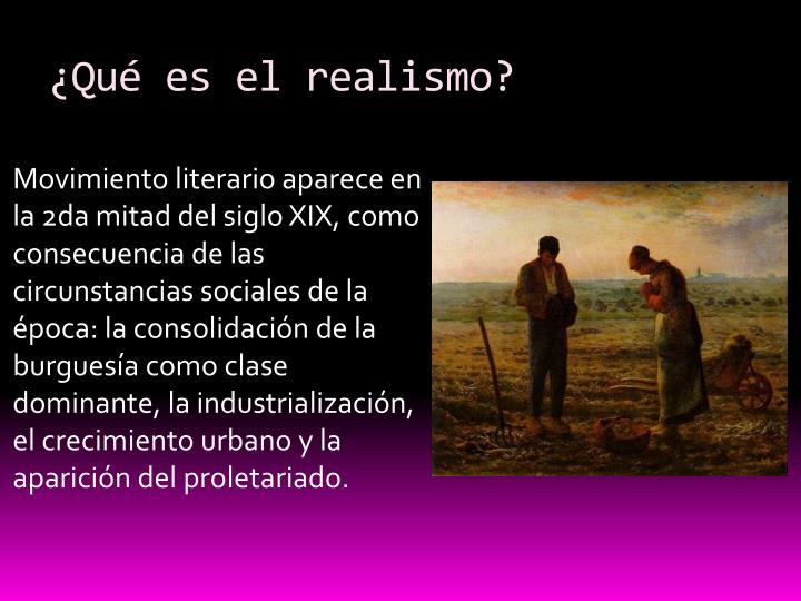 ¿Qué es el realismo?