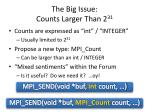 the big issue counts larger than 2 31