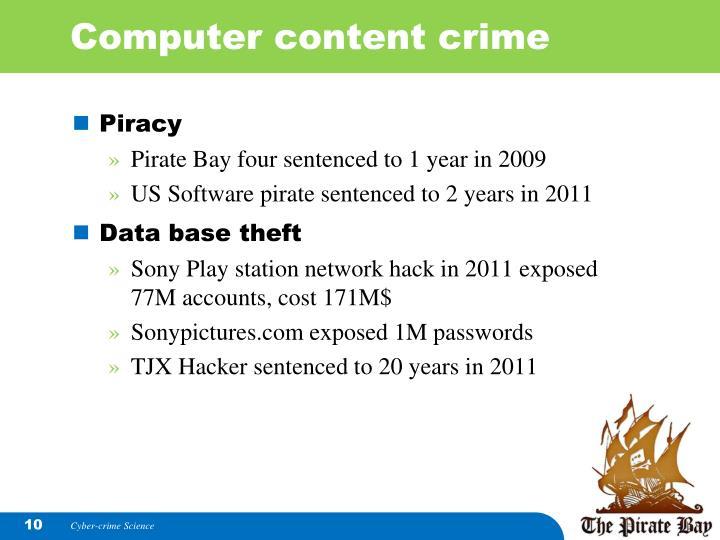 Computer content crime