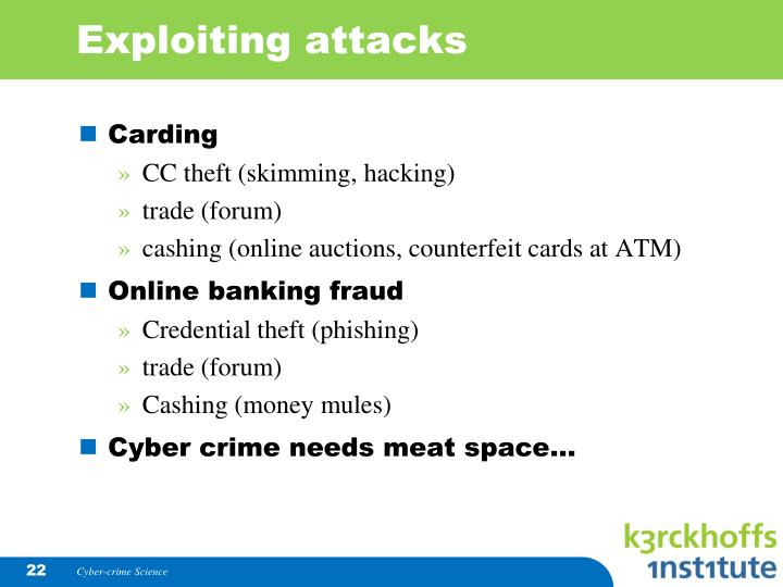 Exploiting attacks