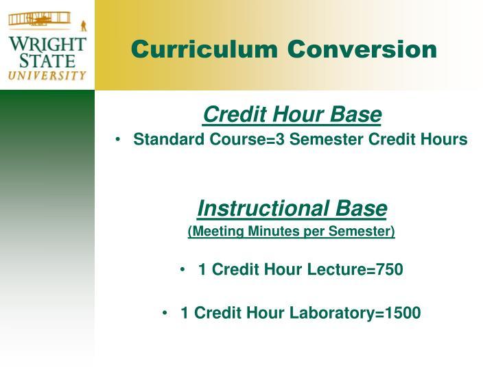Credit Hour Base