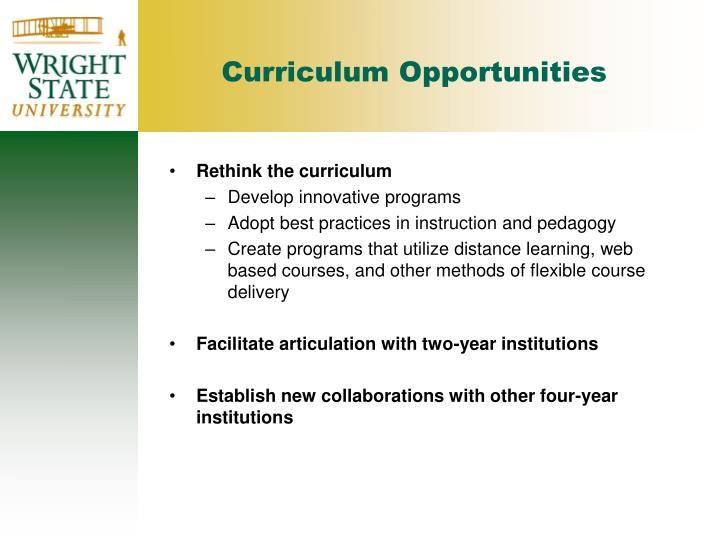 Curriculum Opportunities