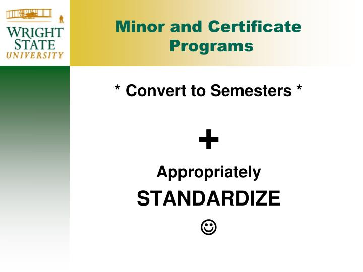 Minor and Certificate
